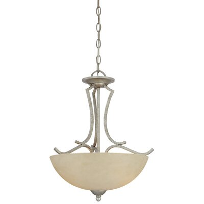 Triton 2-Light Inverted Pendant Finish: Moonlight Silver