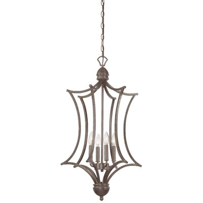 Triton 4-Light Foyer Pendant Finish: Sable Bronze