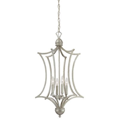 Triton 4-Light Foyer Pendant Finish: Moonlight Silver