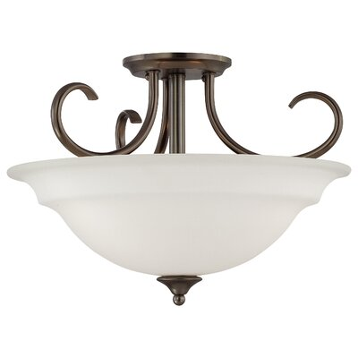 Ripley Modern 3-Light Inverted Pendant Finish: Oiled Bronze