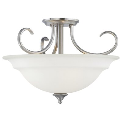 Ripley Modern 3-Light Inverted Pendant Finish: Brushed Nickel