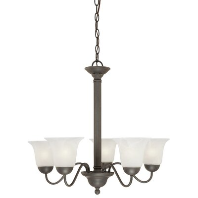 Baum 5-Light Shaded Chandelier Finish: Painted Bronze