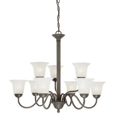 Baum 9-Light Shaded Chandelier Finish: Painted Bronze