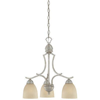 Triton 3-Light Shaded Chandelier