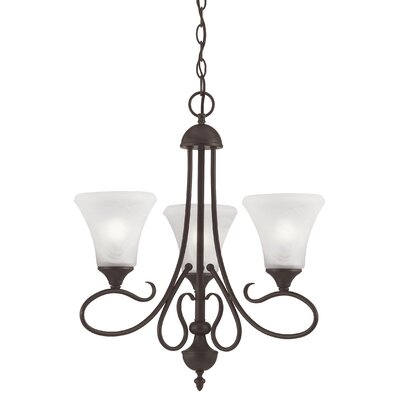 Elipse 3-Light Shaded Chandelier Finish: Painted Bronze