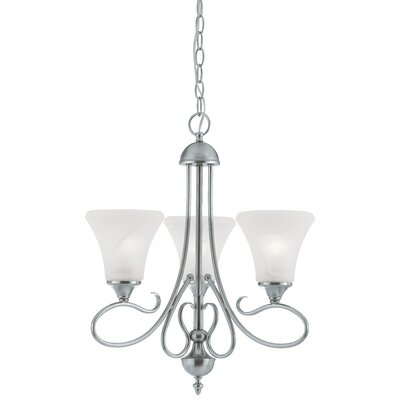 Elipse 3-Light Shaded Chandelier Finish: Brushed Nickel