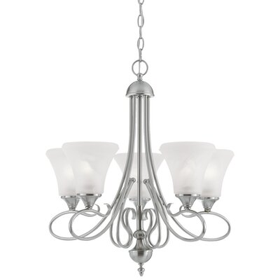 Elipse 5-Light Shaded Chandelier Finish: Brushed Nickel