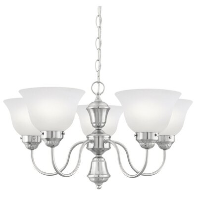 Sterling 5-Light Shaded Chandelier Finish: Brushed Nickel