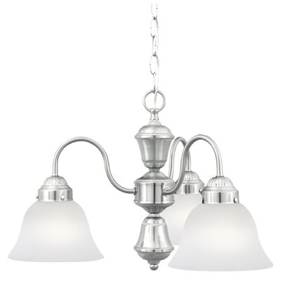 Whitmore 3-Light Shaded Chandelier Finish: Brushed Nickel