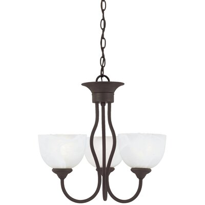Clara 3-Light Shaded Chandelier Finish: Painted Bronze