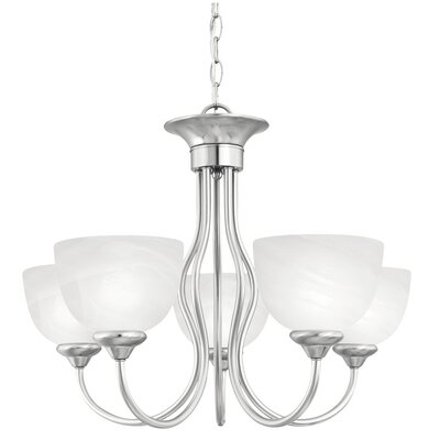 Tahoe 5-Light Shaded Chandelier Finish: Brushed Nickel