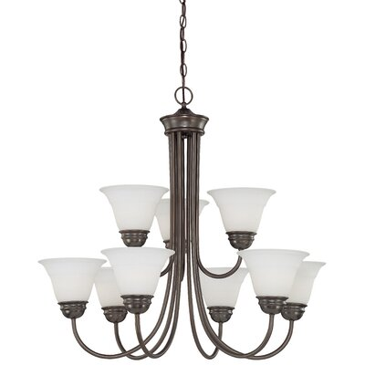 Ripley Modern 9-Light Shaded Chandelier