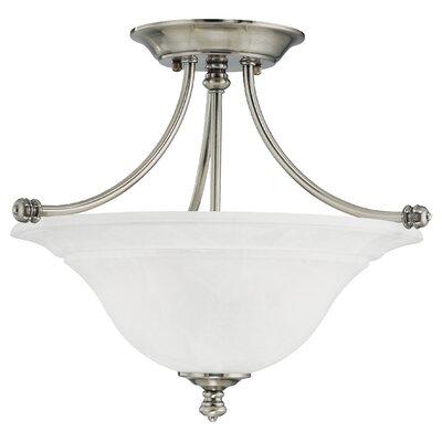 Harmony 2-Light Glass Semi Flush Mount