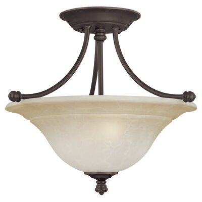 Harmony 2-Light Semi Flush Mount