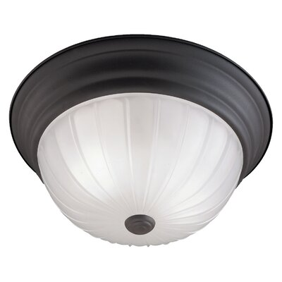 Ceiling Essentials 2-Light Flush Mount Finish: Painted Bronze