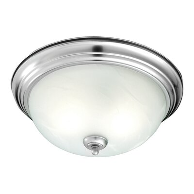 Ceiling Essentials 2-Light Flush Mount Finish: Brushed Nickel