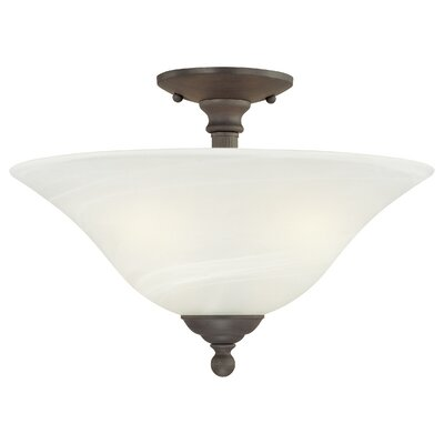 Baum 3-Light Semi Flush Bowl Mount