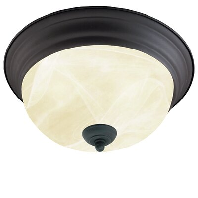 Kerby 2-Light Flush Mount Finish: Bronze