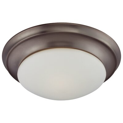 Ceiling Essentials 2-Light Flush Ceiling Mount Finish: Oiled Bronze