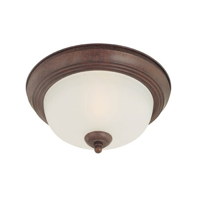 Ceiling Essentials 2-Light Flush Mount Finish: Colonial Bronze