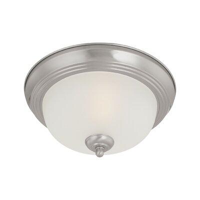 Ceiling Essentials 2-Light Flush Mount Finish: Brushed Nickel