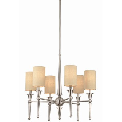 Allure 6-Light Shaded Chandelier Finish: Brushed Nickel