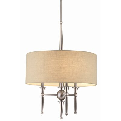 Allure 3-Light Drum Pendant Finish: Brushed Nickel