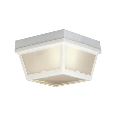 Weesner 1-Light Flush Mount Finish: White