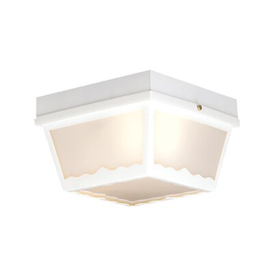 Waterbury 2-Light Flush Mount Finish: White
