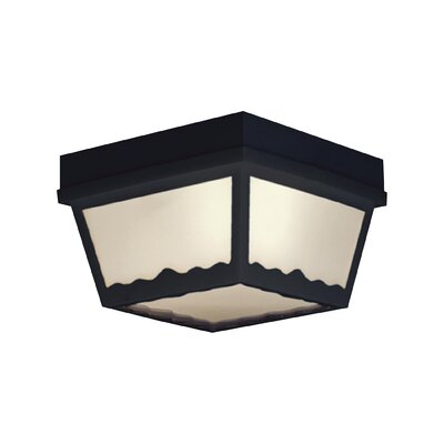 Weesner 1-Light Flush Mount Finish: Black