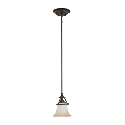 Harmony 1-Light Mini Pendant Finish: Aged Bronze