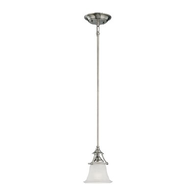 Harmony 1-Light Mini Pendant Finish: Satin Pewter