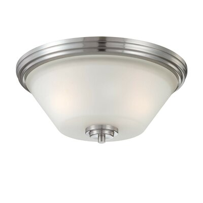 Cana 2-Light Ceiling Light Finish: Brushed Nickel