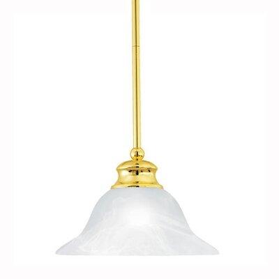 Alabaster 1-Light Bowl Pendant Finish: Polished Brass