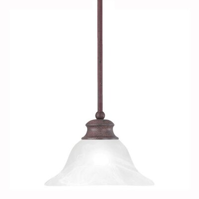 Alabaster 1-Light Bowl Pendant Finish: Tile Bronze