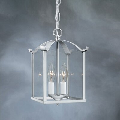 Birkett 2-Light Lantern Foyer Pendant