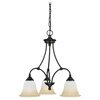 Harmony 3-Light Shaded Chandelier Finish: Aged Bronze
