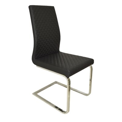 Milano Side Chair Upholstery: Black