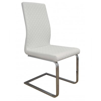 Milano Side Chair Upholstery: White