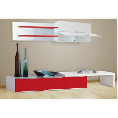 TV Stand Finish: White/Red