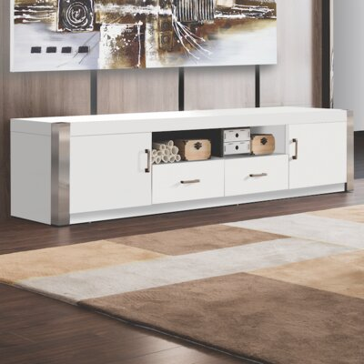 Riddel TV Stand Finish: White