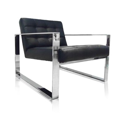 Vizzini Armchair Color: Black