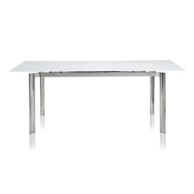 Marnisha Extendable Glass Top Dining Table