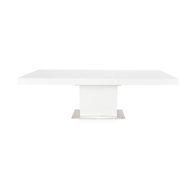 Fredrick Extendable Dining Table Base Finish: White