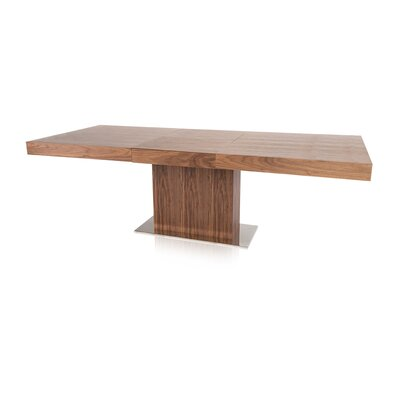 Fredrick Extendable Dining Table Base Finish: Walnut
