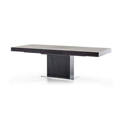 Fredrick Extendable Dining Table Base Finish: Black Oak