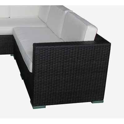 Ackerson Rattan Sectional Set Cushions 434 Product Image