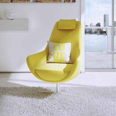 Lounge Chair Upholstery: Yellow