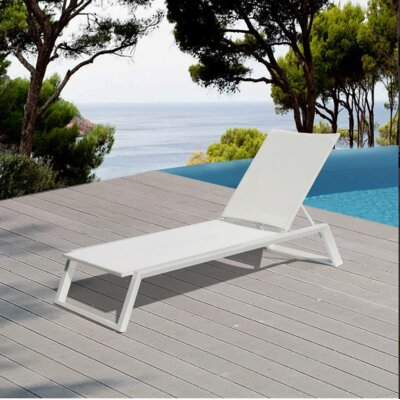 Melodie Chaise Lounge Finish: White