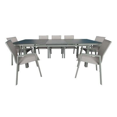 Laury Outdoor Extendable 7 Piece Dining Set